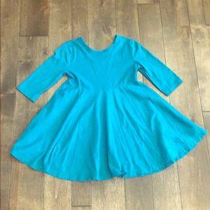 Blue Scoop Back Dress